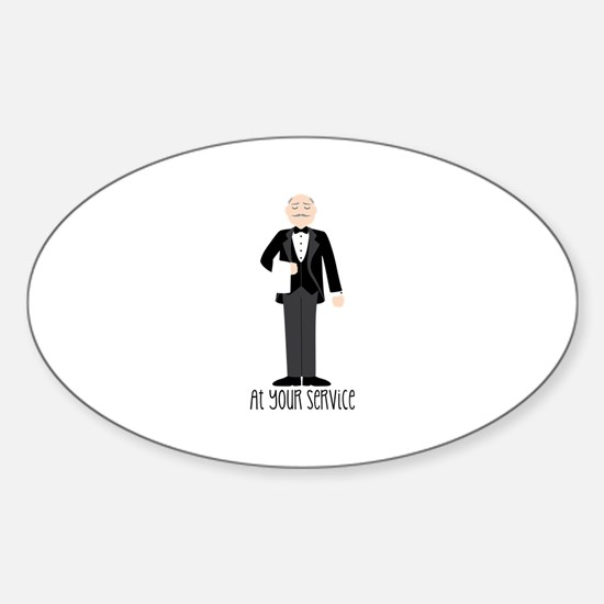 At Your Service Decal