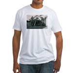 Palm Tree Window Fitted T-Shirt