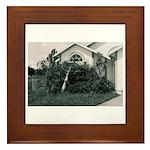 Palm Tree Window Framed Tile