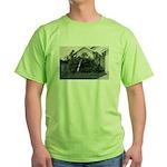 Palm Tree Window Green T-Shirt