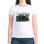 Palm Tree Window Jr. Ringer T-Shirt