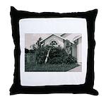 Palm Tree Window Throw Pillow