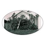 Palm Tree Window Oval Sticker