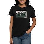 Palm Tree Window Women's Dark T-Shirt