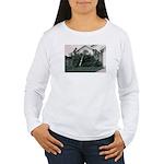 Palm Tree Window Women's Long Sleeve T-Shirt