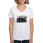 Palm Tree Window Women's V-Neck T-Shirt