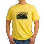 Palm Tree Window Yellow T-Shirt