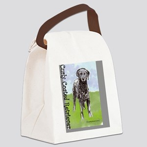 Curly Coated Retriever Stand Canvas Lunch Bag