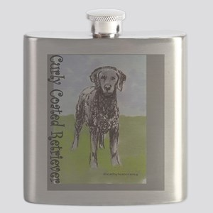 Curly Coated Retriever Stand Flask