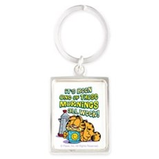 One Of Those Mornings Portrait Keychain