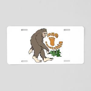 Bigfoot Gone Squatchin Aluminum License Plate