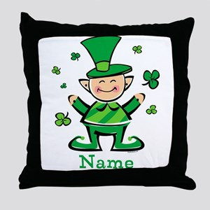 Personalized Wee Leprechaun Throw Pillow