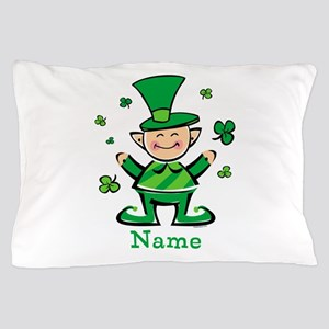 Personalized Wee Leprechaun Pillow Case