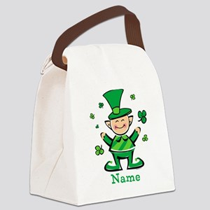 Personalized Wee Leprechaun Canvas Lunch Bag