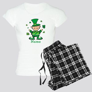 Personalized Wee Leprechaun Women's Light Pajamas