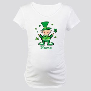 Personalized Wee Leprechaun Maternity T-Shirt