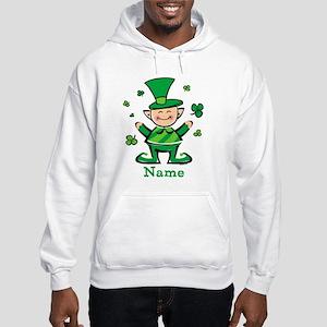 Personalized Wee Leprechaun Hooded Sweatshirt