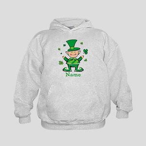 Personalized Wee Leprechaun Kids Hoodie