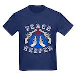 Peace Keeper Guns Kids Dark T-Shirt