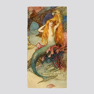 Vintage Mermaid Beach Towel