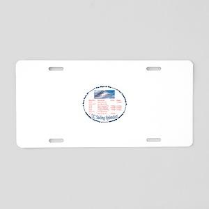 CC Sailing Splendors Aluminum License Plate