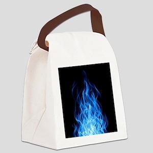 Blue Flames Canvas Lunch Bag
