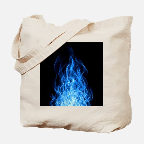Blue Flames Tote Bag