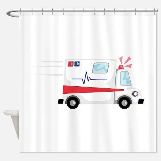 Fast Ambulance Shower Curtain