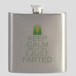 Keep Calm I Farted Flask