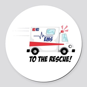 To The Rescue! Round Car Magnet