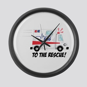 To The Rescue! Large Wall Clock