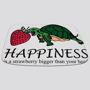 Happiness is (turtle/strawberry) Bathmat