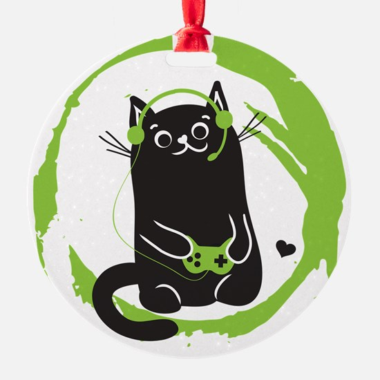 Gamer Cat Ornament