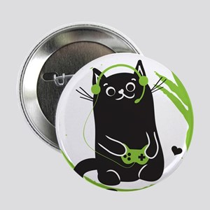 "Gamer Cat 2.25"" Button"