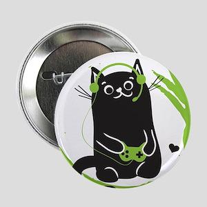"""Gamer Cat 2.25"""" Button"""