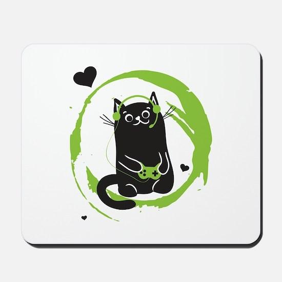 Gamer Cat Mousepad