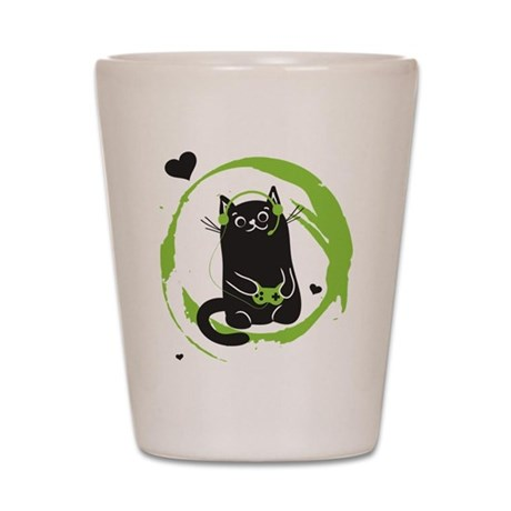 Gamer Cat Shot Glass