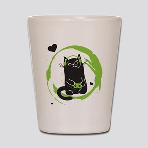Gamer Cat Shot Glass