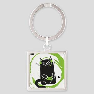 Gamer Cat Keychains