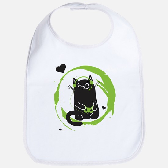 Gamer Cat Bib
