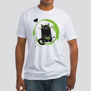 Gamer Cat Fitted T-Shirt