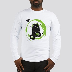 Gamer Cat Long Sleeve T-Shirt