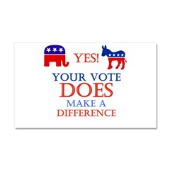 Your Vote Counts Car Magnet 20 x 12