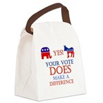 Your Vote Counts Canvas Lunch Bag