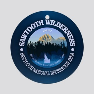 Sawtooth Wilderness Round Ornament