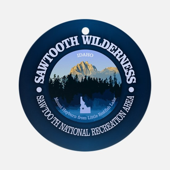 Sawtooth Wilderness Round Ornament