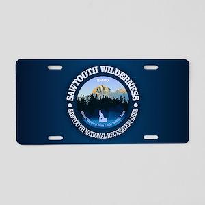 Sawtooth Wilderness Aluminum License Plate