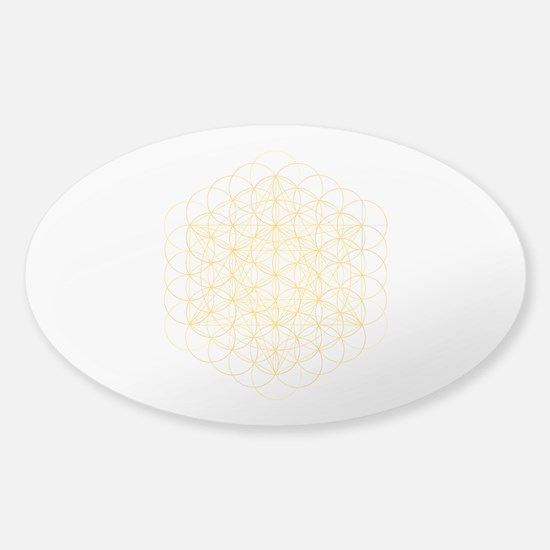 Fruit Of Life Clear Sticker (Oval) Sticker (Oval)
