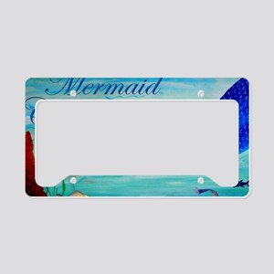 Mermaid Crossing License Plate Holder