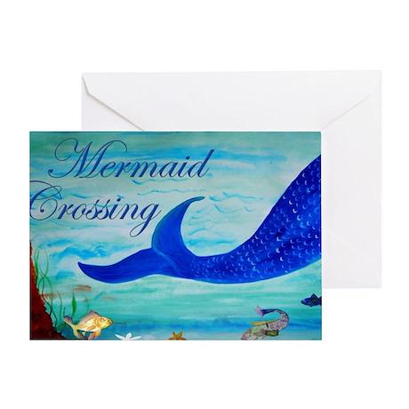 Mermaid Crossing Greeting Card